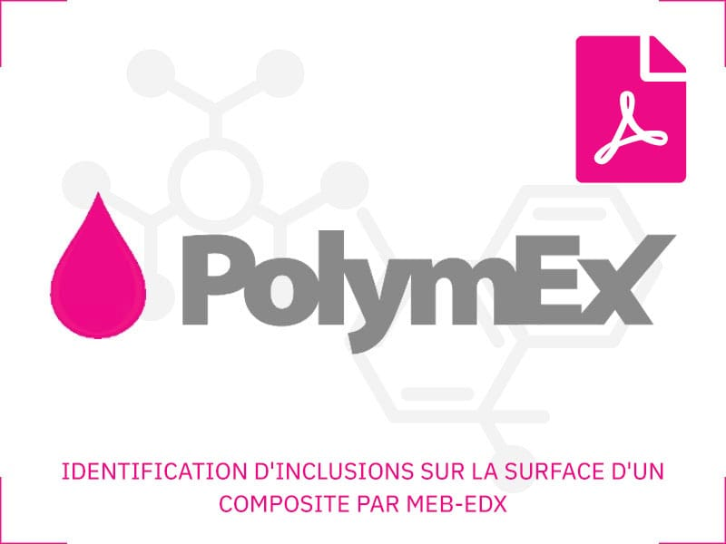 IDENTIFICATION D'INCLUSIONS SUR LA SURFACE D'UN COMPOSITE PAR MEB-EDX